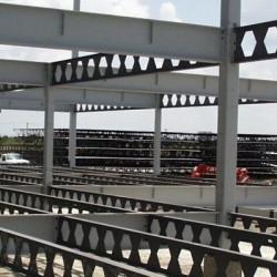 ساخت و برش تیرآهن لانه زنبوری